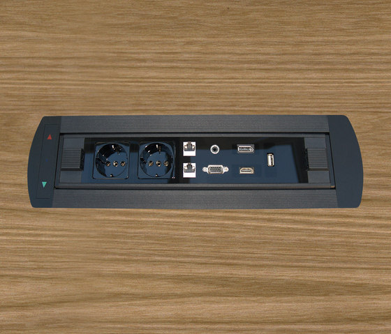 Design Line desk connector panel di KOMTECH