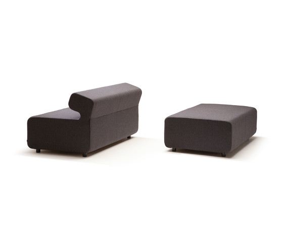 Up 3-Seater curved with backrest by Fora Form