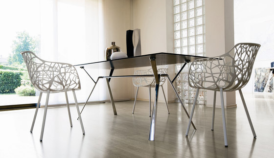 Radice Quadra table rectangular di Fast