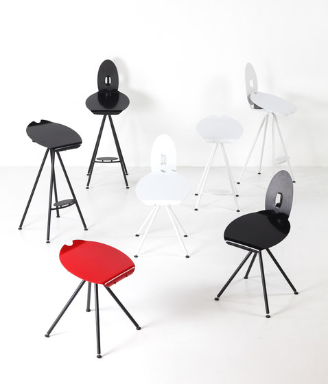Miró Medium Stool with backrest by Stellar Works