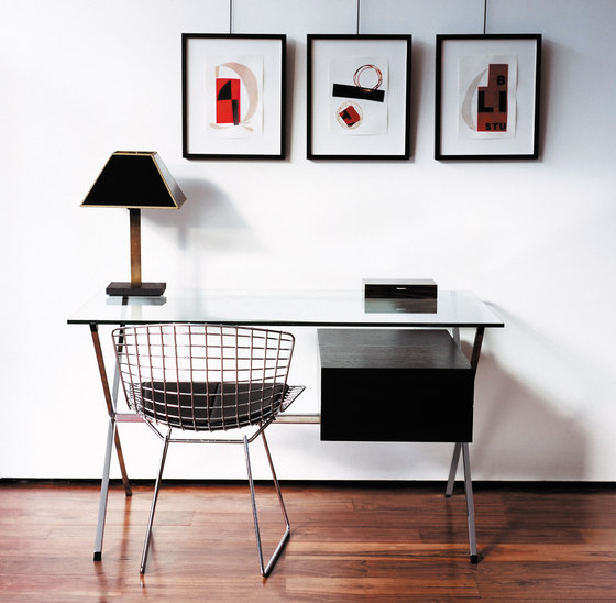 Bertoia Stuhl Leder von Knoll International