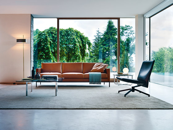 Florence Knoll Lounge 3 seat sofa by Knoll International