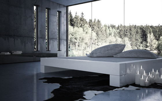 SOMNIUM Bed with bed drawer by Rechteck