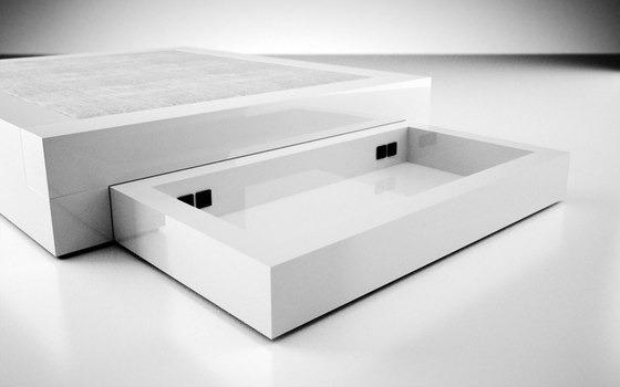 SOMNIUM Bed with bed drawer di Rechteck