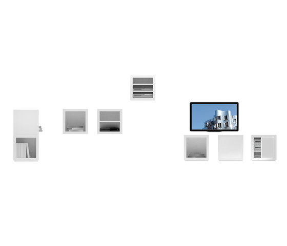 LECTULUS Shelf Cube de Rechteck