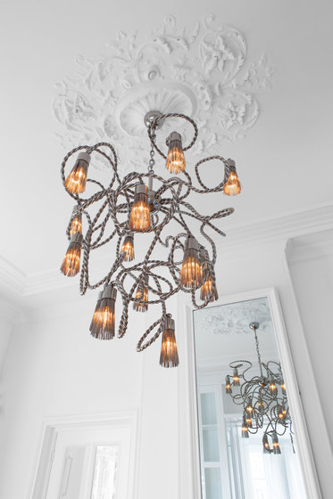 Sultans of Swing chandelier round by Brand van Egmond