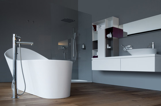 Twinprime | Column bath mixer by Laufen