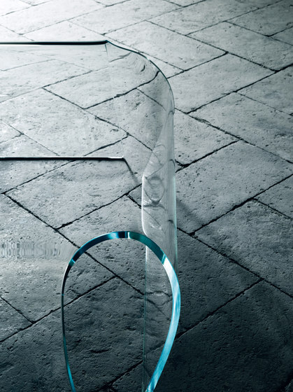 Bent Glass Table by Glas Italia
