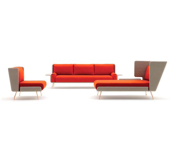 A&A Lounge Armchair + Ottoman de Knoll International