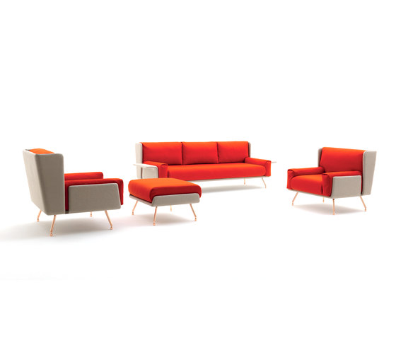 A&A Lounge Armchair + Ottoman von Knoll International