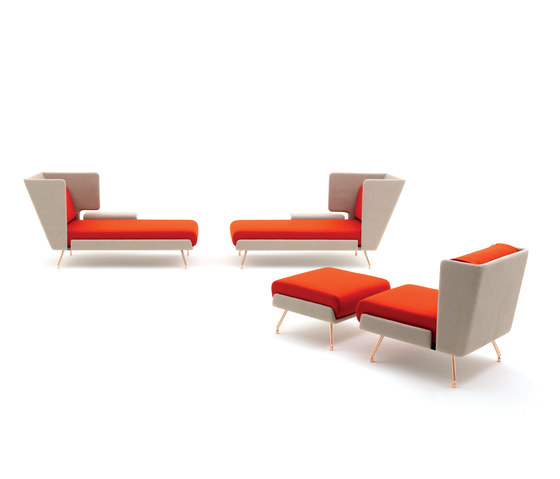 A&A Lounge Chaise Longue by Knoll International