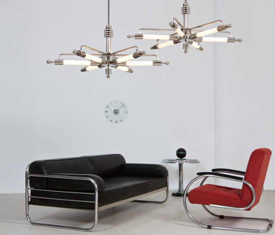 "Pendant Lamp ""Metropolis"" in Machine Age Design by ZEITLOS – BERLIN"