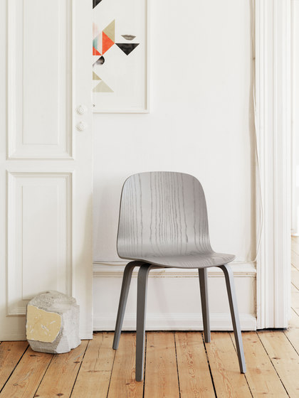 Visu Chair | wood base upholstered de Muuto