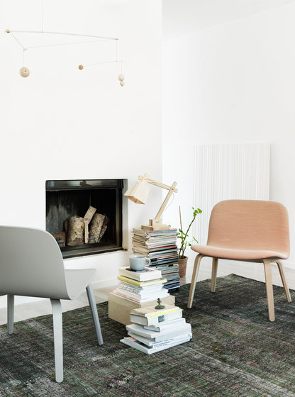 Visu Chair | wood base upholstered by Muuto