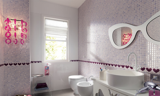 Pop Up Heart White Inserto* by Fap Ceramiche