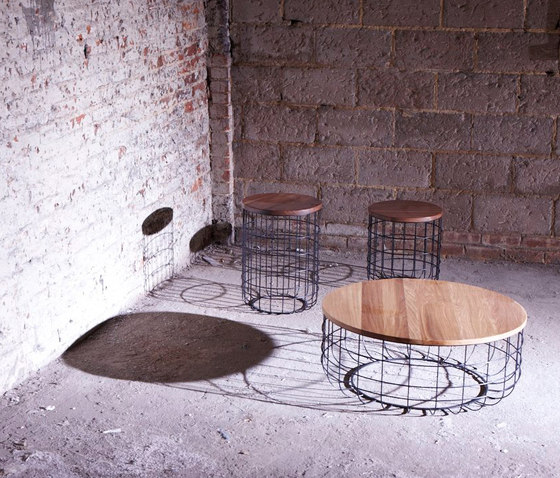 Wire Group Low Stool by Dare Studio
