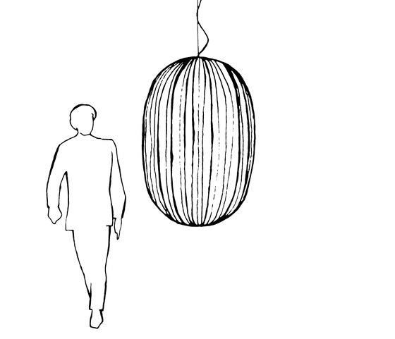 Plass suspension by Foscarini