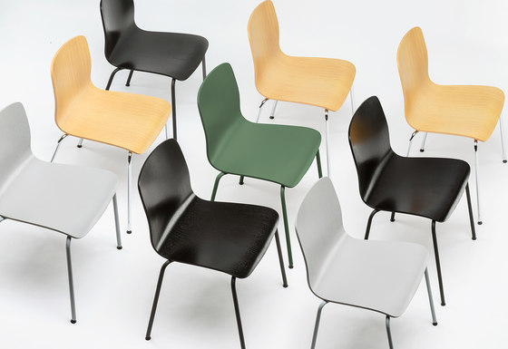 Slim M Stack Chair by De Vorm