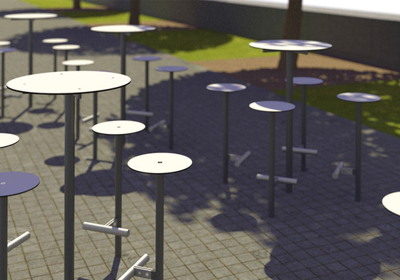 bistrot | Raised stool by mmcité