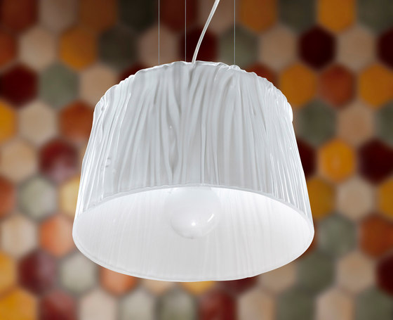 White Belt suspension lamp by Poesia