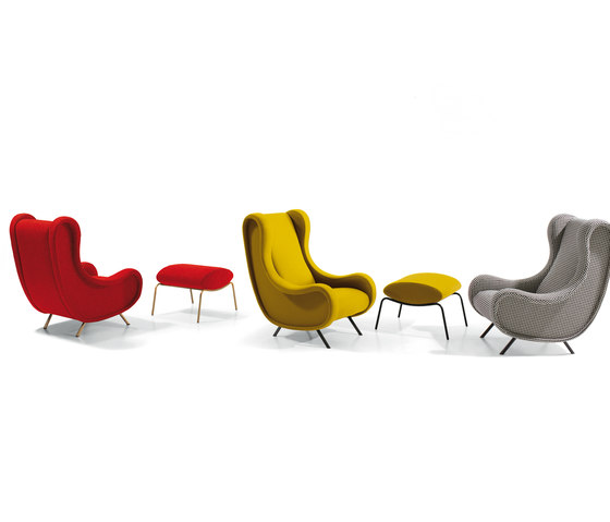 Sir armchair & pouf by ARFLEX