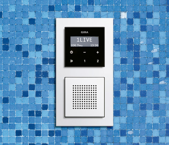 E2 | RDS flush-mounted radio by Gira