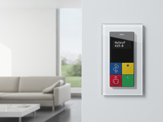 Esprit Glass | Series control switch by Gira