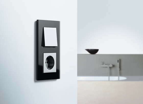 Esprit Glass | Home station with receiver by Gira