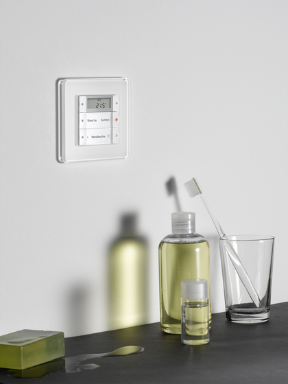 Esprit Glass | Flush-mounted radio by Gira