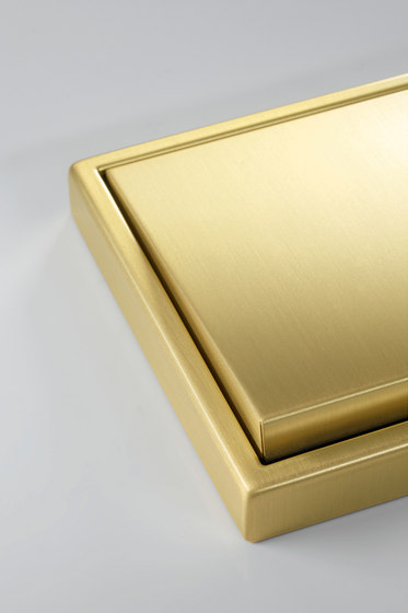 LS 990 switch classic brass by JUNG