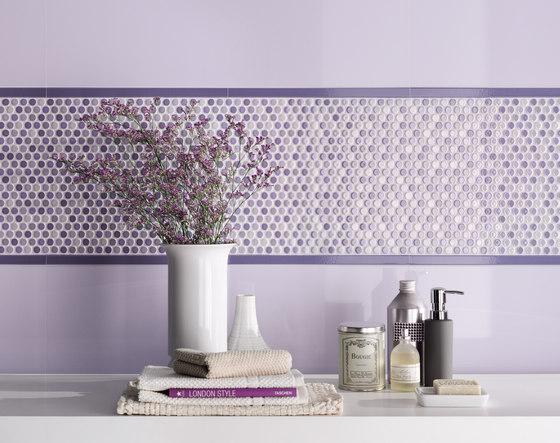 Audrey | Decoro blossoms azzurro chiaro by Lea Ceramiche