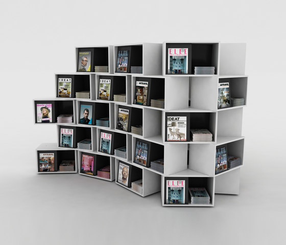 wallbox magazine displays holder by idm coupechoux architonic. Black Bedroom Furniture Sets. Home Design Ideas
