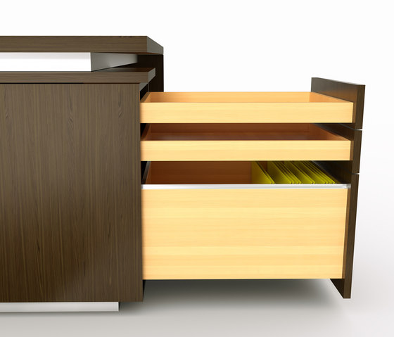 Brand L-desk wood leather de M2L