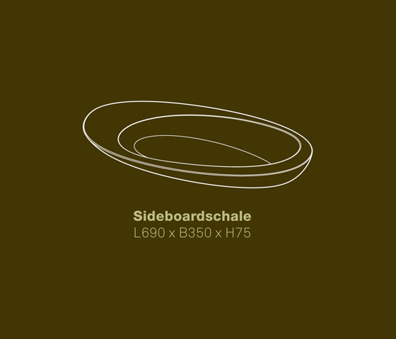 Sideboard Bowl by vonRickenbach