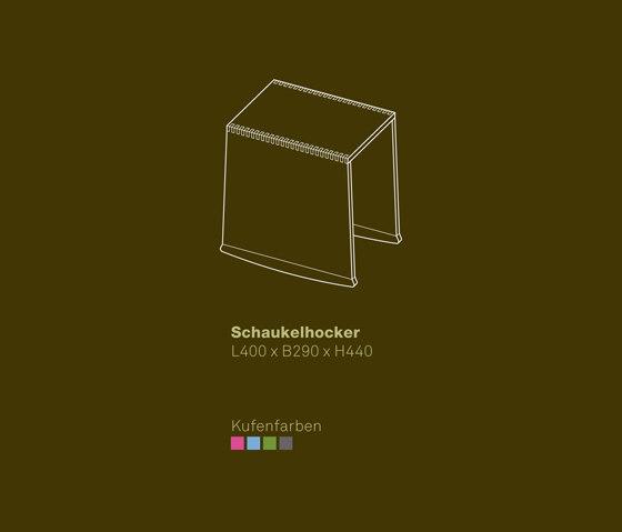 Rocking Footstool de vonRickenbach