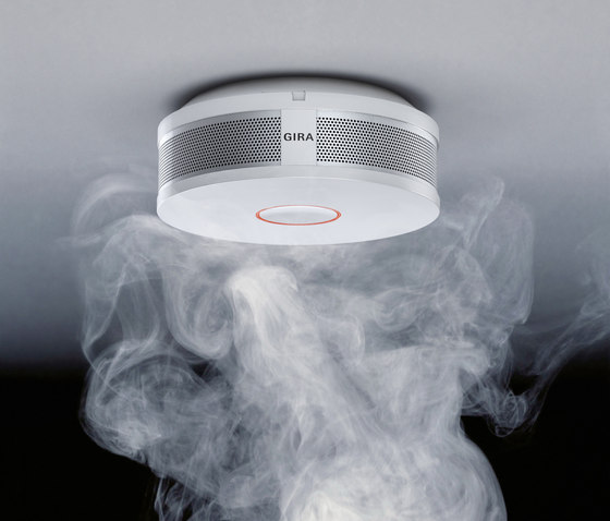 smoke alarm device dual vds by gira product. Black Bedroom Furniture Sets. Home Design Ideas
