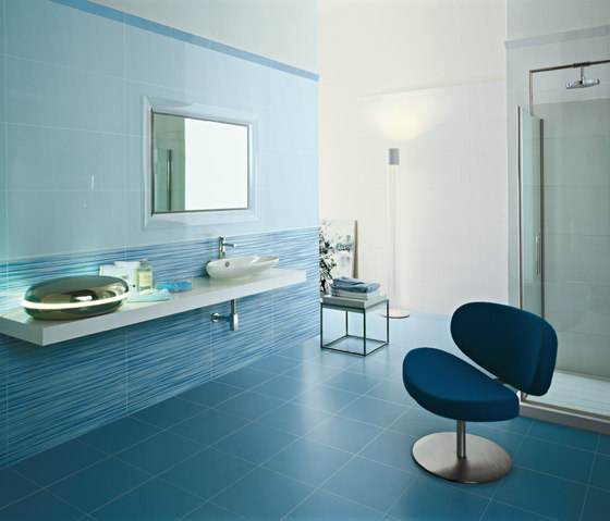 Pleasures | Decoro cool azzuro by Lea Ceramiche