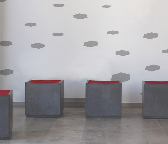 Cheese Concrete seating cube by OGGI Beton