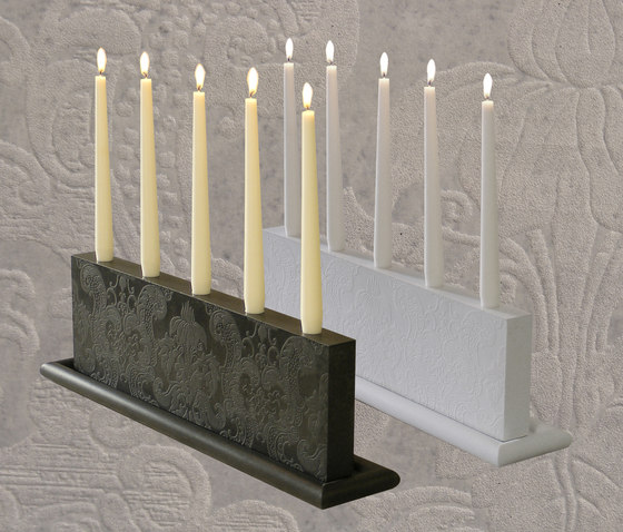 Mr. White Candle holder de OGGI Beton