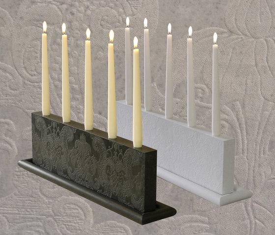 Mr. White Candle holder di OGGI Beton
