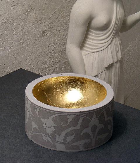 Mr. White Candle holder by OGGI Beton