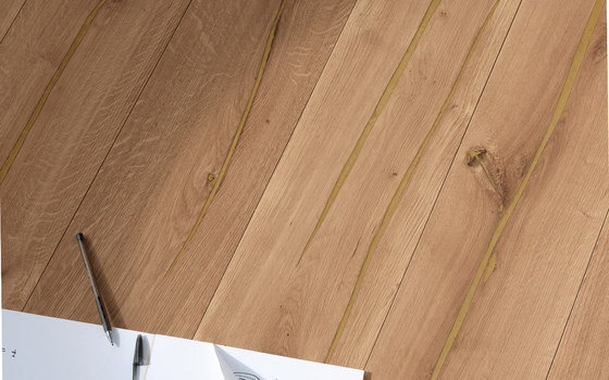 mafi Coral OAK wide plank gold. brushed | grey oil by mafi