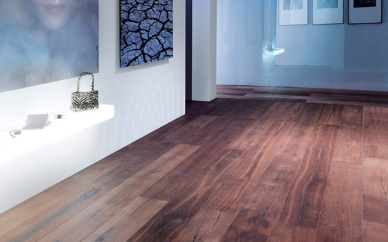 mafi Coral OAK Vulcano wide-plank black. brushed | white oil by mafi