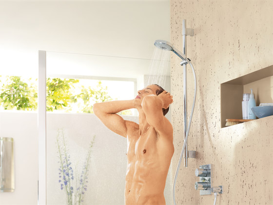 Power & Soul Shower system with bath thermostat for wall mounting by GROHE