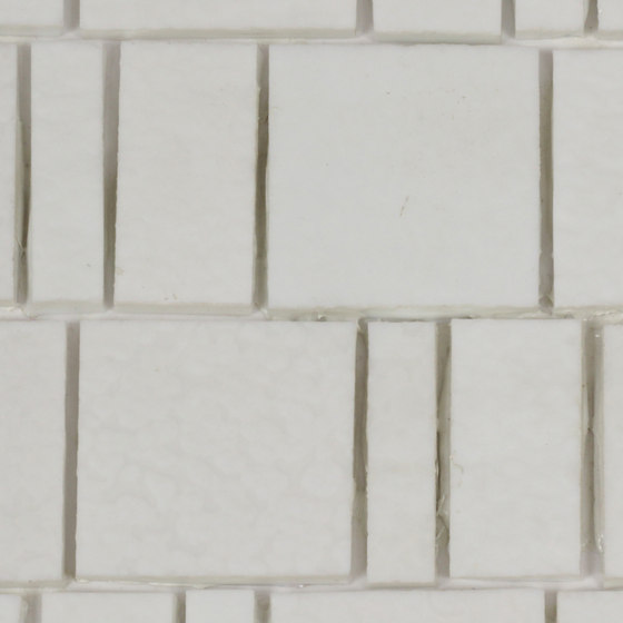 Irregular hand cut glass mosaic (Up to 75% recycled content) by selected by Materials Council