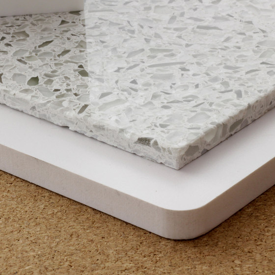 Recycled glass reconstituted stone by selected by Materials Council