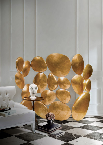 Gold folding screen de Boca do lobo