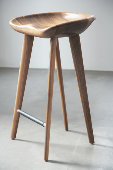 Tractor Stools by BassamFellows Tractor Counter Stool : cb 22 walnut counterstool 3 01 h from www.architonic.com size 373 x 560 jpeg 31kB