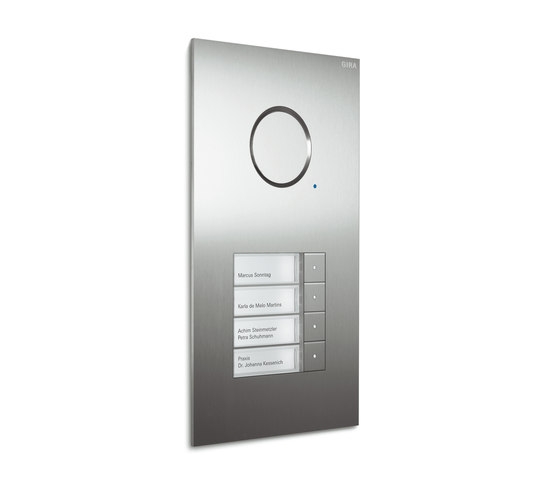Door station stainless steel | 1-gang with video by Gira