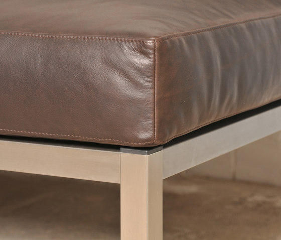 Leather couch by KURTH Manufaktur